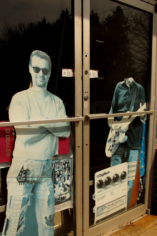 Music store window