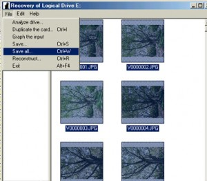 3. Select all the images you wish to recover