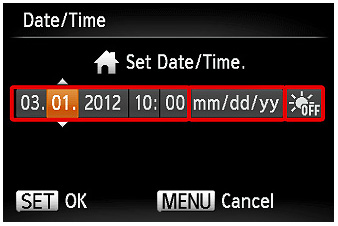 s100 date/time setting